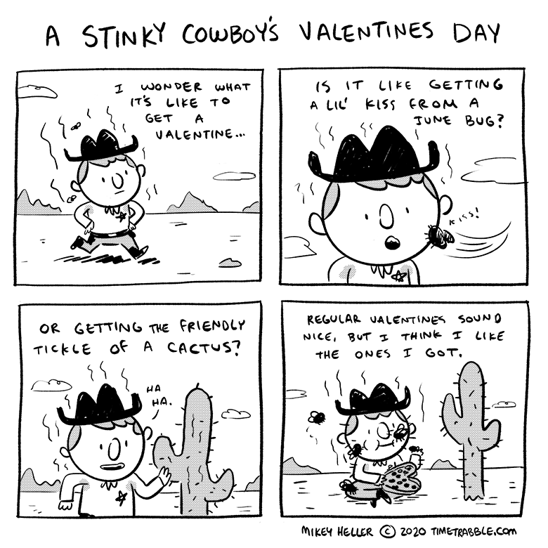 A Stinky Cowboy's Valentines Day