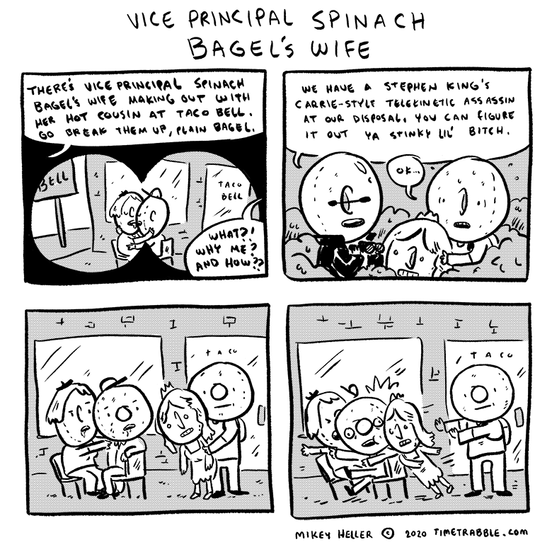 Vice Principal Spinach Bagel's Wife
