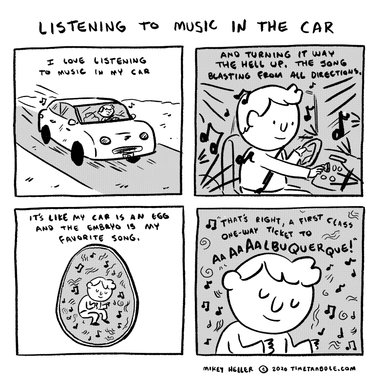 Listening To Music In The Car