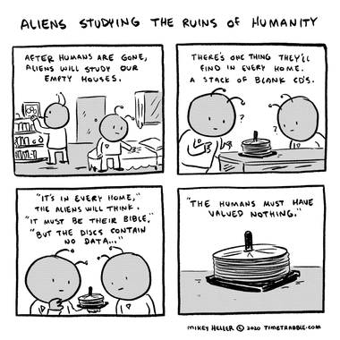 Aliens Studying The Ruins Of Humanity