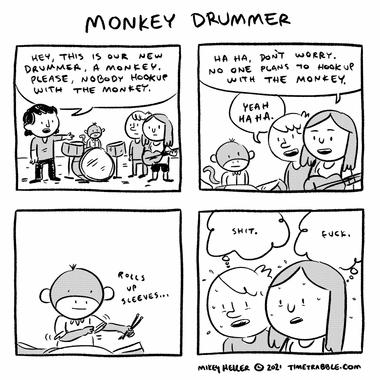 Monkey Drummer