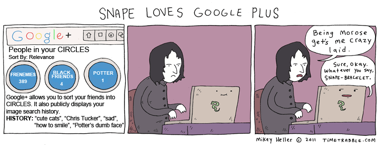 Snape Loves Google Plus