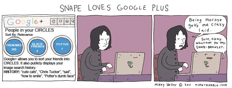 Snape Loves Google Plus