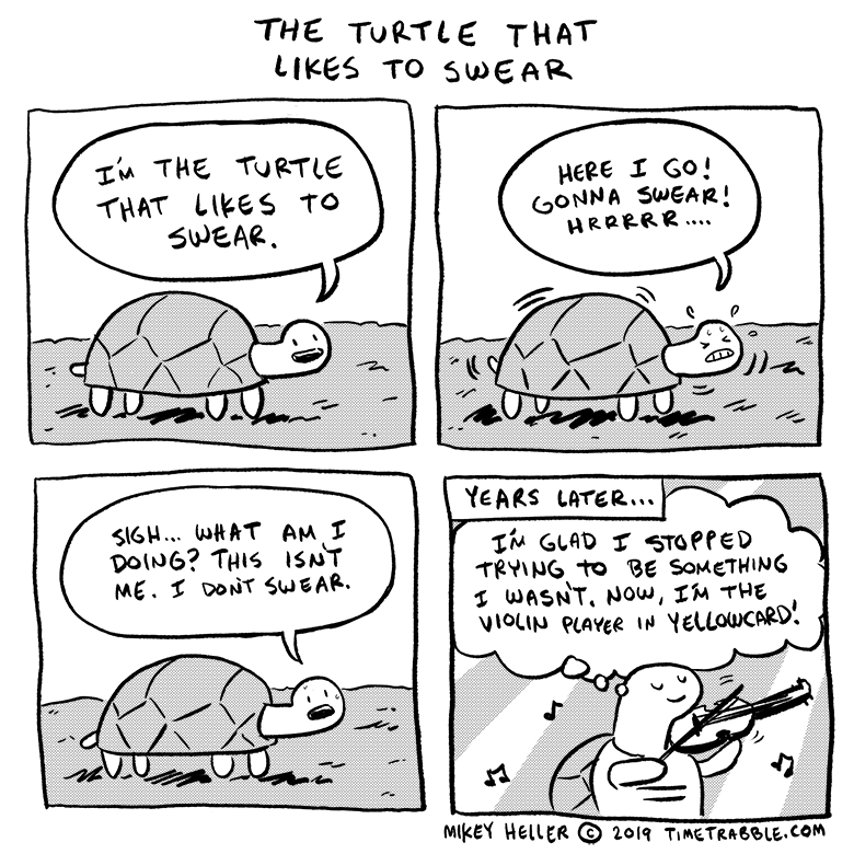 The Turtle That Likes To Swear