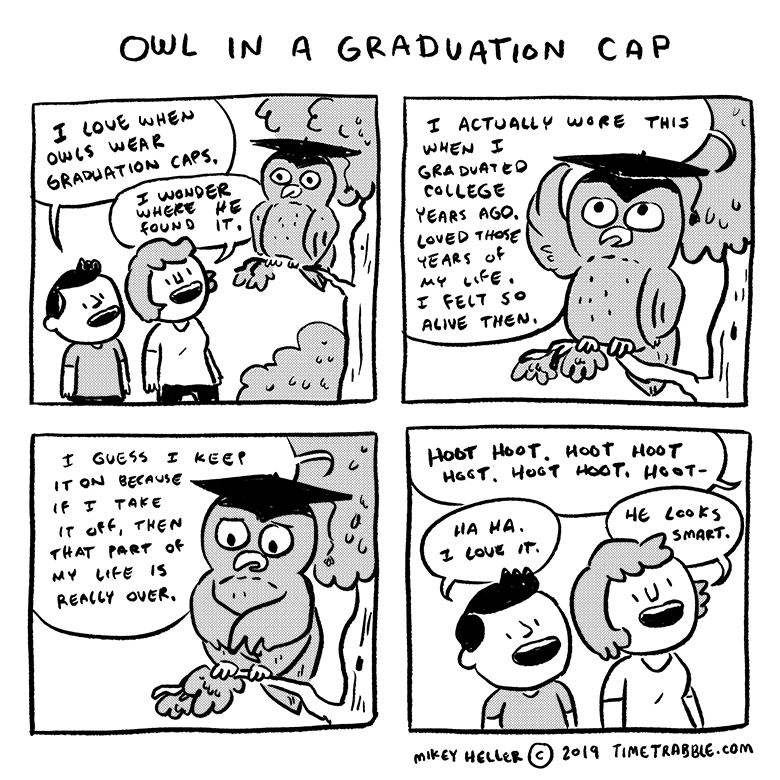 Owl In A Graduation Cap