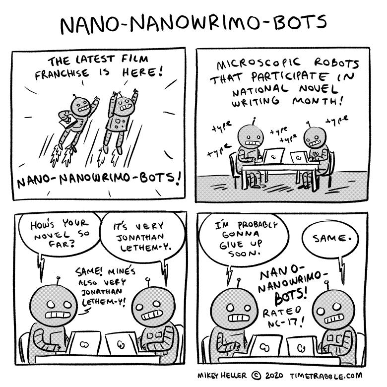 Nano NaNoWriMo Bots