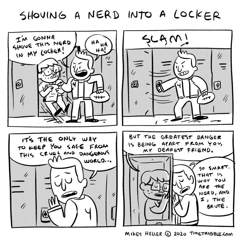 Shoving A Nerd Into A Locker