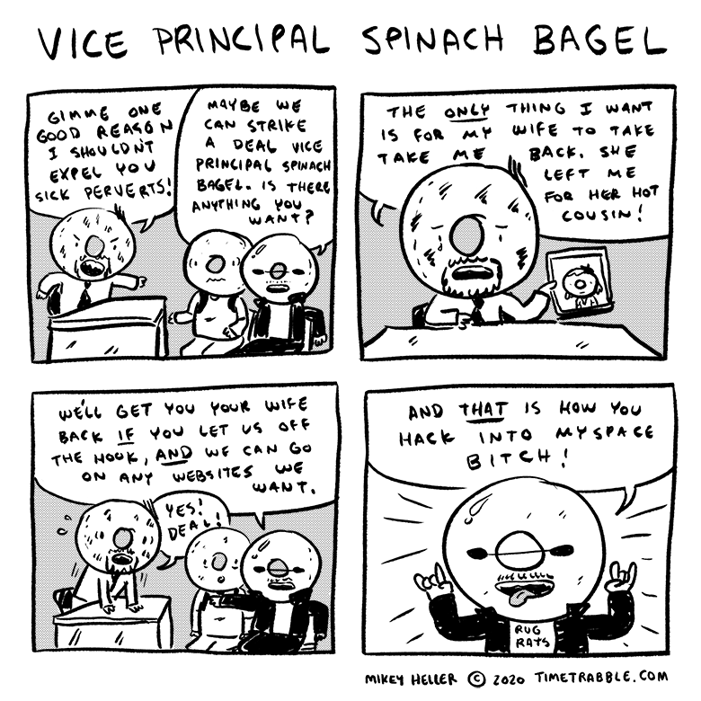 Vice Principal Spinach Bagel