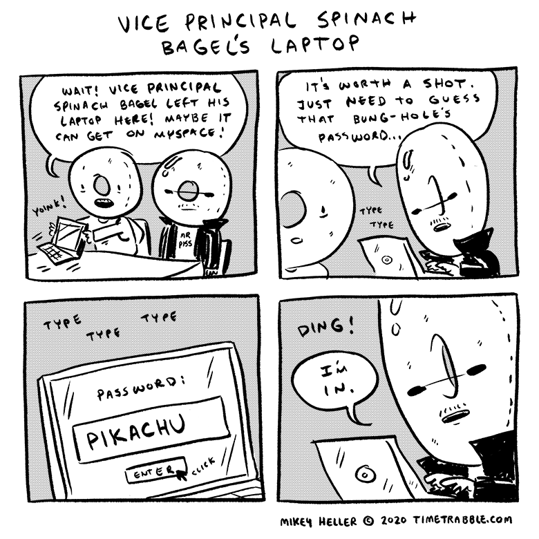 Vice Principal Spinach Bagel's Laptop