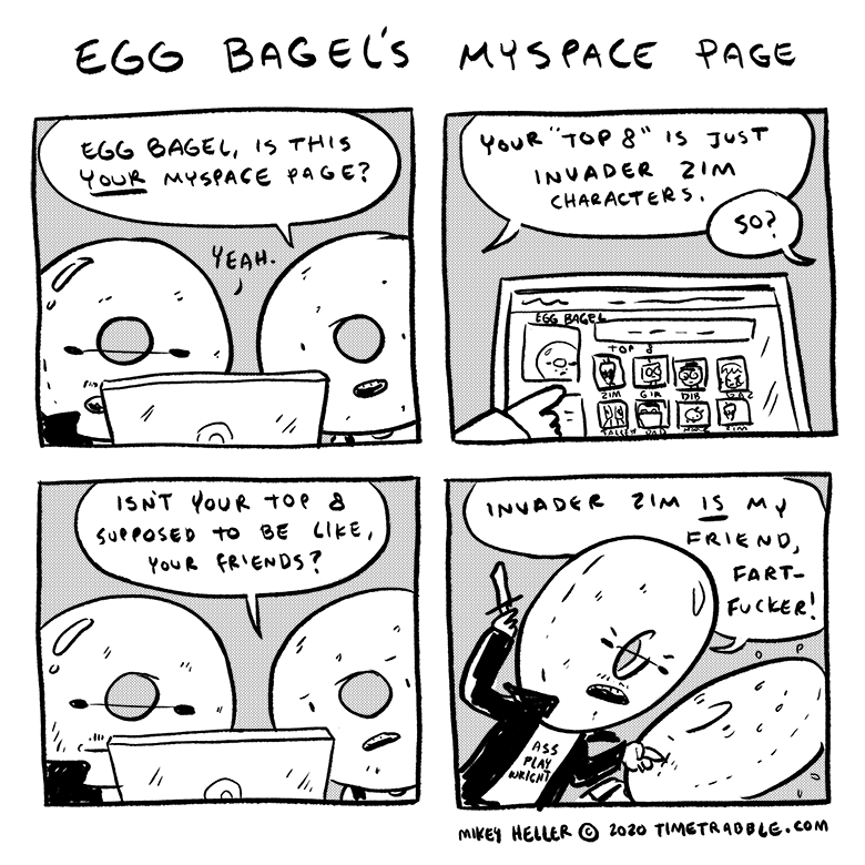 Egg Bagel's Myspace Page