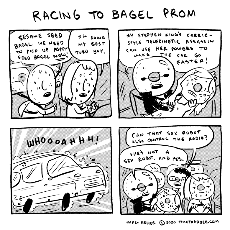 Racing To Bagel Prom
