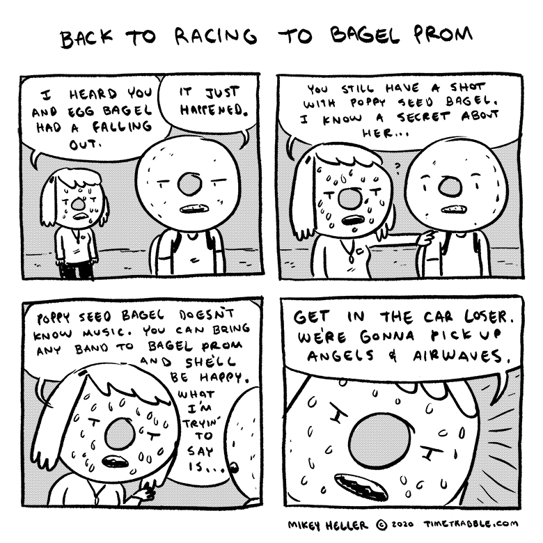 Back To Racing To Bagel Prom