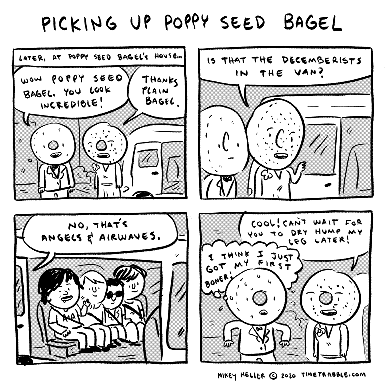 Picking Up Poppy Seed Bagel