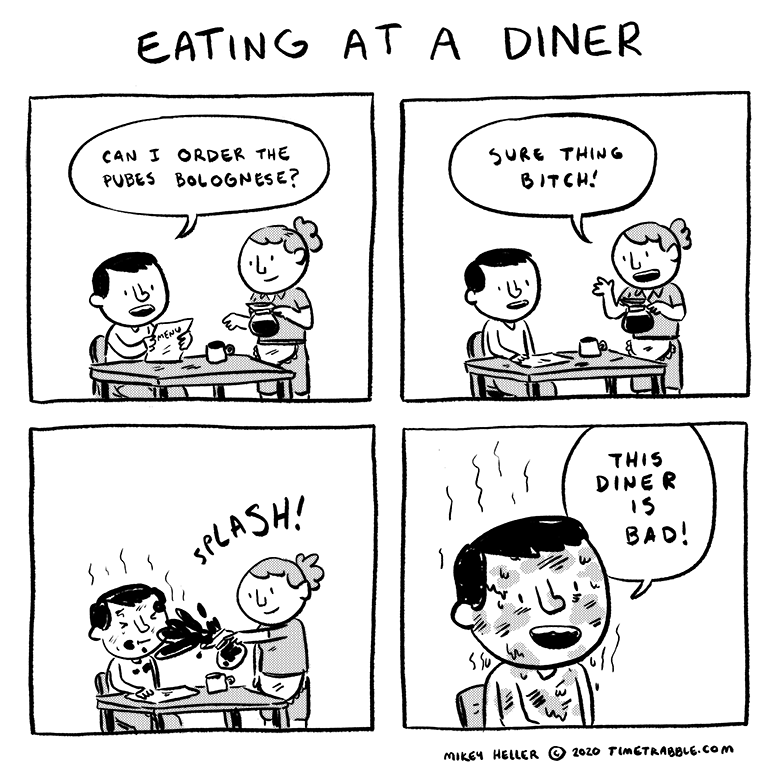 Eating At A Diner