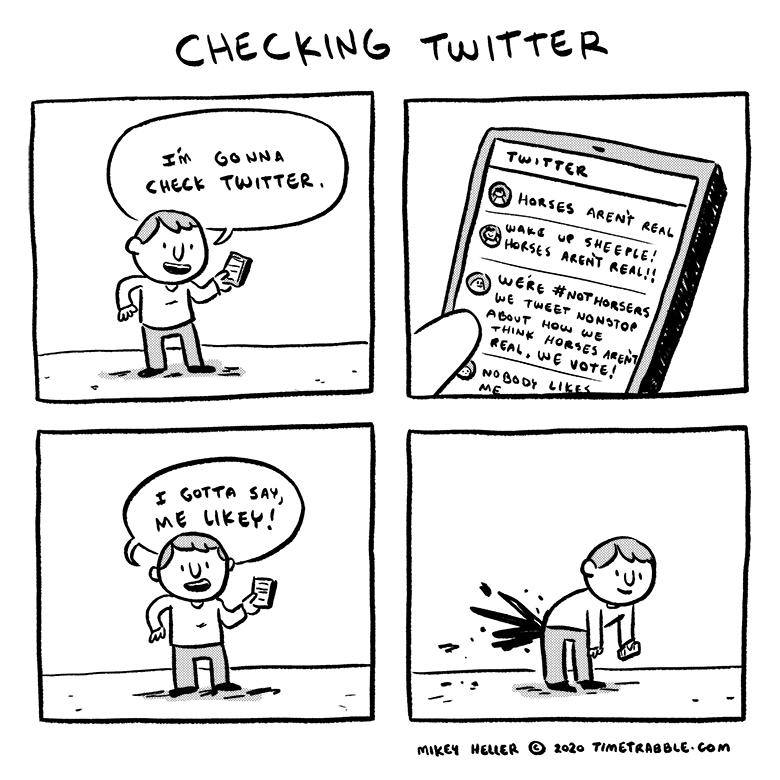 Checking Twitter
